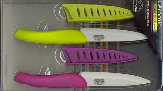 coltelli colorati in ceramica