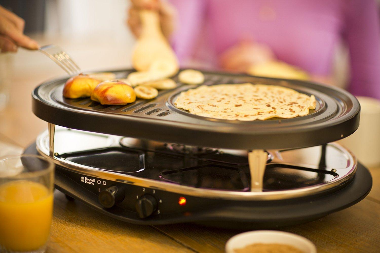 non solo una semplice pietra ollare elettrica da utilizzare direttamente a tavola ma con un unico prodotto si possono cucinare le crpes cucinare con il