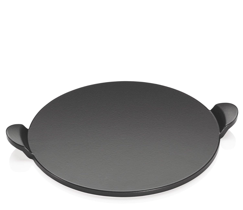 pietra ollare con manici ideale per cucinare sopra il barbecue e dentro al forno il diametro della pietra 33 cm ottimo per cucinare pizze torte salate